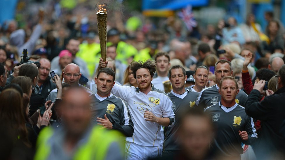 Macavoy and the olympic torch