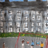 painting of children playing in a park