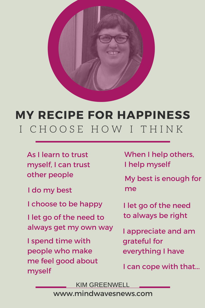 my recipe for happiness essay Read this essay on my idea of a happy life  our entire lives seems to be motivated by a search, most of us believe in and have an image of an ideal state we want to be, in which we believe we would be happier unfortunately, very few ever get to realize this state happiness is subjective, thus has.