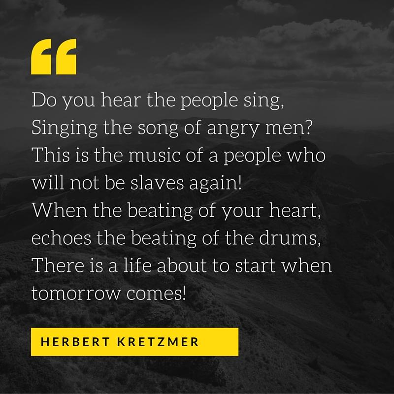 people sing