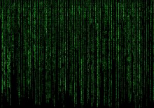 matrix computer code on screen
