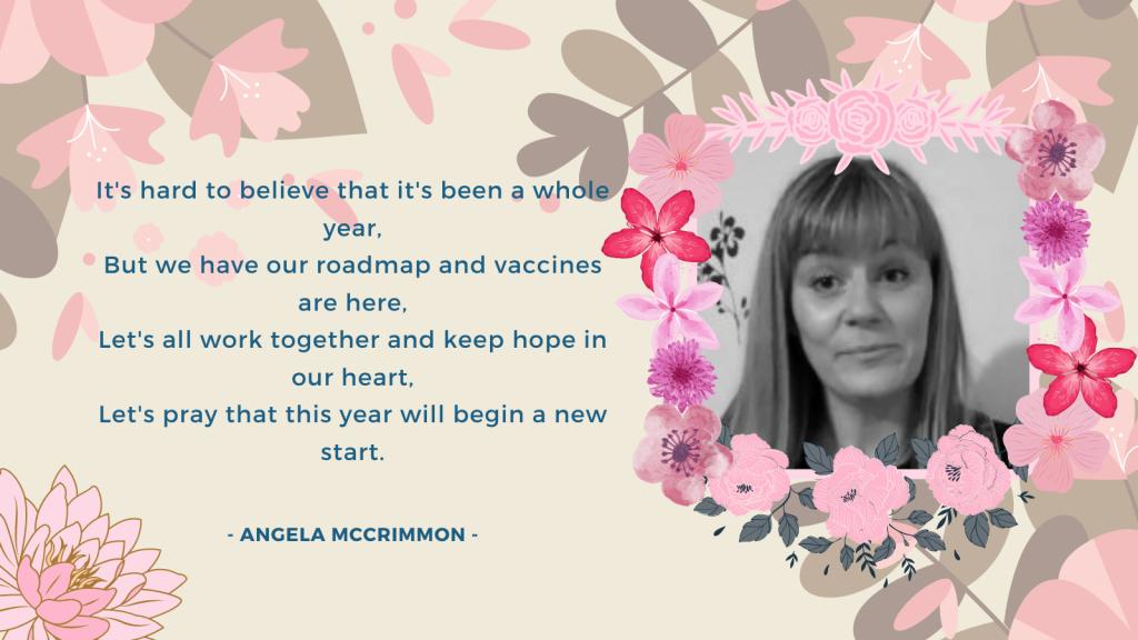 Angela McCrimmon's last paragraph of the poem